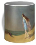 Girl On The Beach  Coffee Mug by Frank Richards
