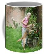 Girl Playing With Dog Coffee Mug