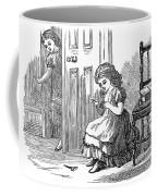 Girl Sewing, 1873 Coffee Mug