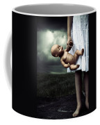 Girl With A Baby Doll Coffee Mug by Joana Kruse
