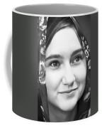 Girl With A Rose Veil 4 Bw Coffee Mug