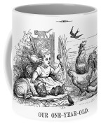 Girl With Birds, 1873 Coffee Mug