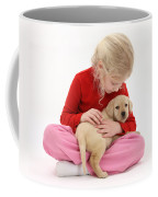 Girl With Puppy Coffee Mug
