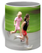 Girls Running Coffee Mug