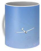Glider Flying In Blue Sky Canvas Photo Poster Print Coffee Mug