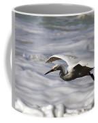 Gliding Snowy Egret Coffee Mug