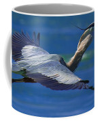 Gliding Great Blue Heron Coffee Mug
