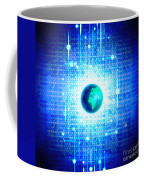 Globe With Technology Background Coffee Mug