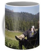 Gloria Reid Relaxing In Coffee Mug by Rich Reid