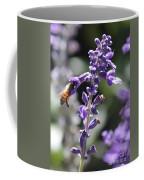 Glowing Bee In Purple Flowers Coffee Mug