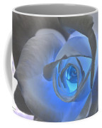 Glowing Blue Rose Coffee Mug