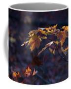 Glowing Maple Leaves Coffee Mug