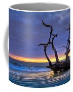 Glowing Sands At Driftwood Beach Coffee Mug by Debra and Dave Vanderlaan