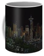 Glowing Seattle Skyline Coffee Mug