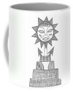 God Of Sun Coffee Mug by Michal Boubin