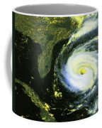 Goes 8 Satellite Image Of Hurricane Fran Coffee Mug by Science Source