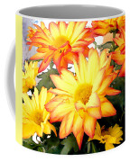 Gold And Red Autumn Mums Coffee Mug