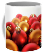 Gold And Red Xmas Balls Coffee Mug