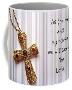 Gold Cross Coffee Mug