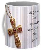 Gold Cross Coffee Mug by Cynthia Amaral