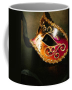 Gold Scroll Masquerade Mask Coffee Mug