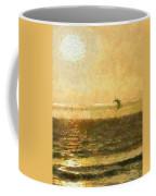Golden Day Painterly Coffee Mug