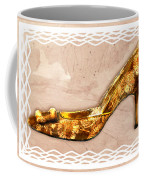 Golden Floral Royalty Shoe Coffee Mug