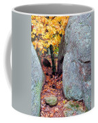 Golden Oak Through Boulders At Elephant Rocks State Park Coffee Mug