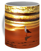 Golden Sunrise Seagull Coffee Mug