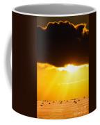 Golden Sunset On Farmland Coffee Mug