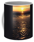 Golden Sunset On The Sand Beach Coffee Mug by Setsiri Silapasuwanchai