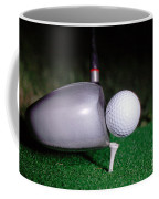 Golf Club Hitting Ball Coffee Mug
