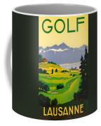 Golfing In Lausanne Coffee Mug