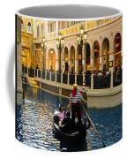 Gondola Ride Inside Venetian Hotel Coffee Mug
