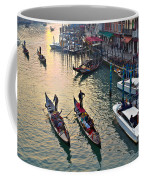 Gondolieri At Grand Canal. Venice. Italy Coffee Mug