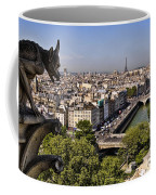 Gorgyle View Of Paris Coffee Mug