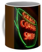 Grace Coffee Shop Neon Coffee Mug