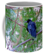 Grackle On A Branch Coffee Mug