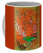 Grafitti Dining Coffee Mug by Joan  Minchak