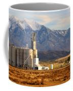 Grain Silo Below Wasatch Range - Utah Coffee Mug