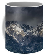 Grand Tetons Immersed In Clouds Coffee Mug
