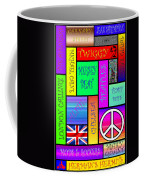 Graphic Sixties London Coffee Mug by Andrew Fare