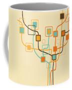 Graphic Tree Pattern Coffee Mug