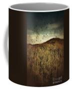 Grassy Hill Birds In Flight Coffee Mug