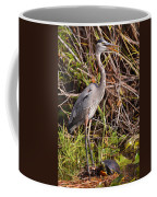 Great Blue Heron And Turtle Coffee Mug