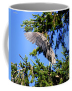 Great Blue Heron Cover Up Coffee Mug