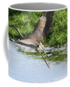 Great Blue Heron Escape Coffee Mug