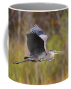 Great Blue Heron In Flight II Coffee Mug