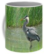 Great Blue Heron Coffee Mug by Paul Ward