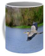 Great Blue Heron Soaring Coffee Mug